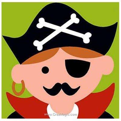 Kit canevas pour enfants je suis un pirate de Margot