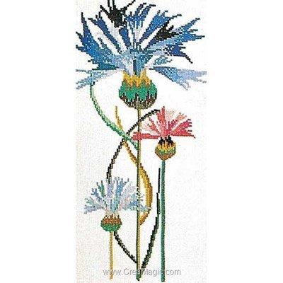 Kit au point de croix compté cornflower sur aida de Thea Gouverneur