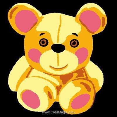 Ourson kit canevas pour enfants - Luc Création