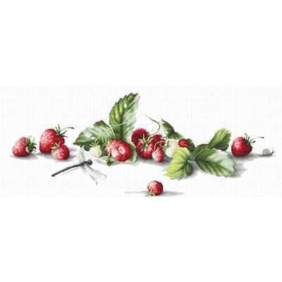 Kit au point de croix compté Luca-S fraises gourmandes