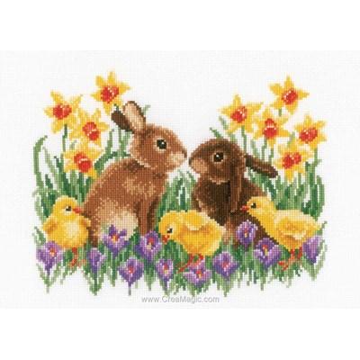 Kit lapins et les poussins dans les jonquilles - Vervaco