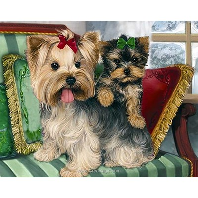Broderie diamant yorkshire terriers de Collection d'art