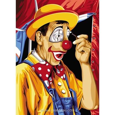 Canevas le maquillage du clown - SEG