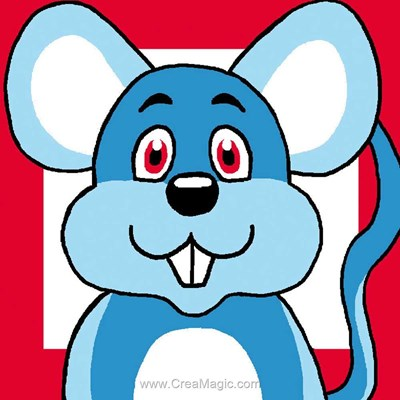 Canevas kit enfant complet souris bleue - Luc Création