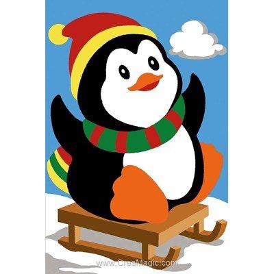 SEG canevas le pingouin sur la luge