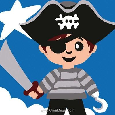 Kit canevas complet petit pirate de Luc Création