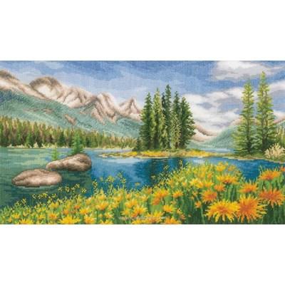 Kit Vervaco à broder lac de montagne