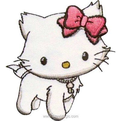 Ecusson thermocollant hello kitty debout - MLWD