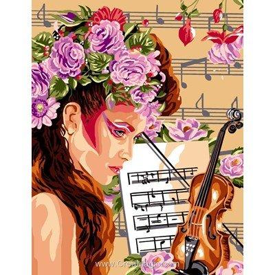 Canevas mélodie des fleurs - Luc Création
