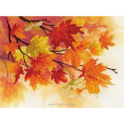 Modèle point de croix couleurs d'automne de RIOLIS