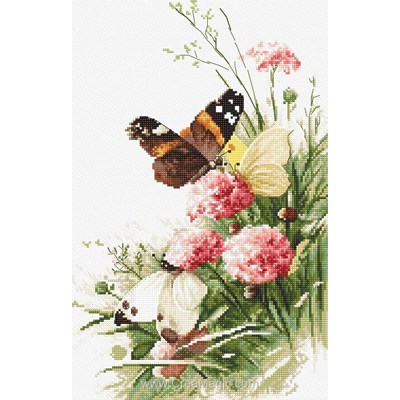 Butterflies in the field kit tableau point de croix - LETISTITCH