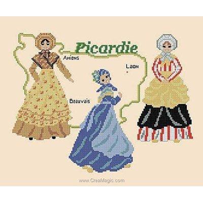 Costumes de picardie modèle au point de croix - Catherine Debusne