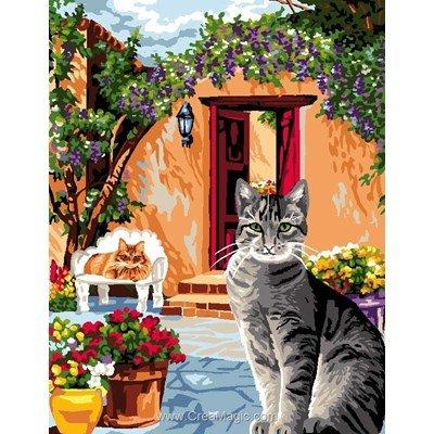 Luc Création canevas le coin des chats
