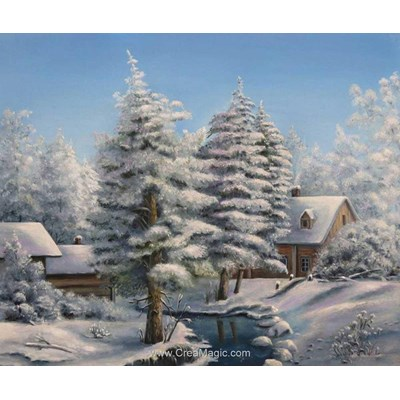 Kit broderie diamant frosty landscape de Diamond Painting