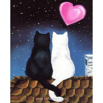 Broderie diamant cat romance - Diamond Painting