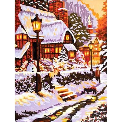 Collection d'art canevas la rue sous la neige