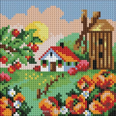 Kit broderie diamant summer landscape - Diamond Painting