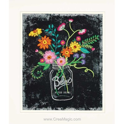 Kit de broderie traditionnelle Dimensions believe in your dreams