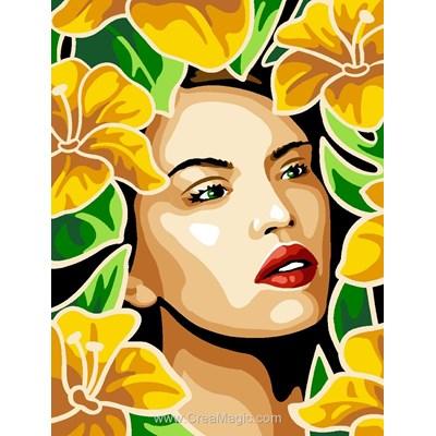 Canevas belle en jaunes de Margot