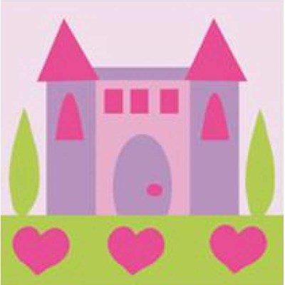 Kit canevas a broder pour enfants le château de princesse - DMC
