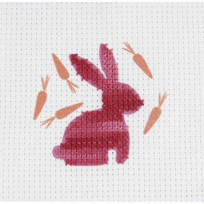 Broderie le lapin rouge - DMC