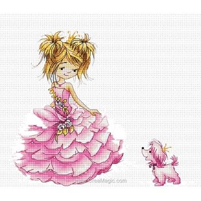Modèle au point de croix la princesse rose de Luca-S