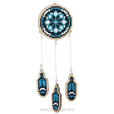 Kit broderie diamant Wizardi attrape rêve - blue