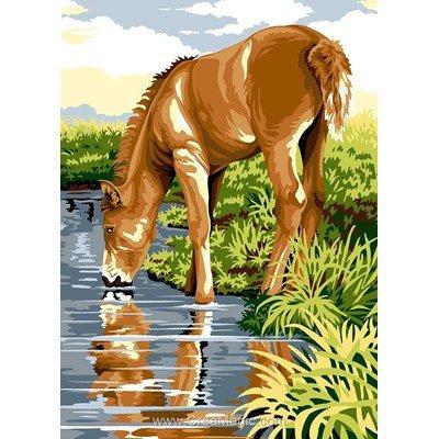 SEG canevas cheval à la rivière