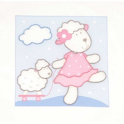 Broderie imprimée promenade de mouton de DMC
