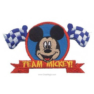 Ecusson brodé thermocollant mickey champion - MLWD