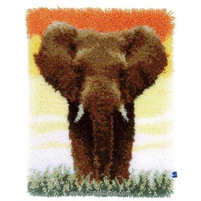 Tapis point noue Vervaco elephant