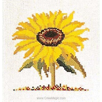 Broderie au point de croix compté sunflower sur aida - Thea Gouverneur