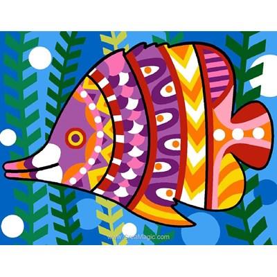 Petit poisson mosaique kit canevas enfants - Margot