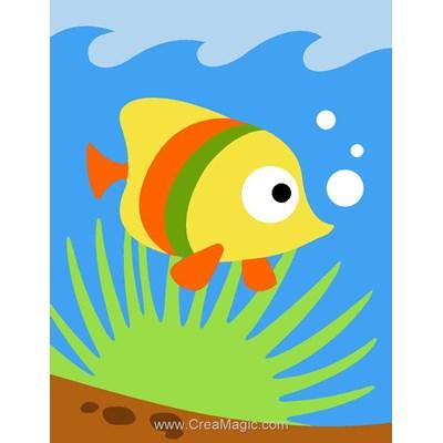 Petit poisson kit canevas débutant - Margot