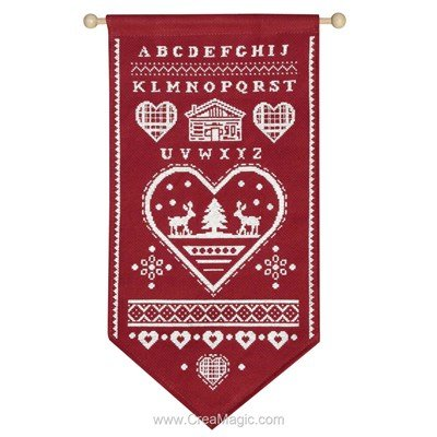 Bannière Princesse à broder hiver