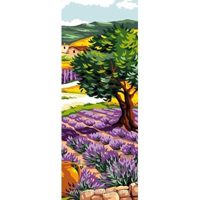 Canevas lavande et oliviier de Luc Création