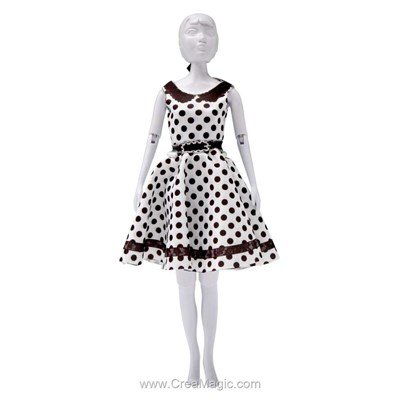 Vêtement peggy dots DRESS YOUR DOLL pour barbie