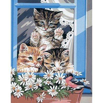 Vues sur les petits chats canailles canevas - Royal Paris