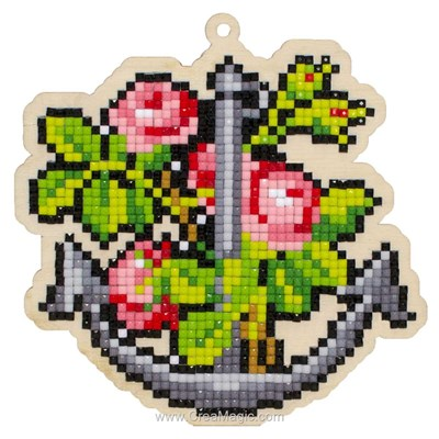 Kit broderie diamant Wizardi anchor and flowers