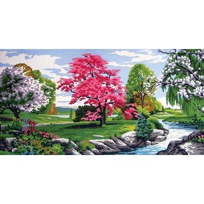 Scène de printemps canevas - Collection d'art