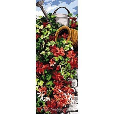 Canevas SEG amphore et fleurs