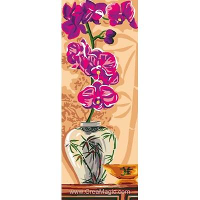 Vase à orchidées canevas - Luc Création