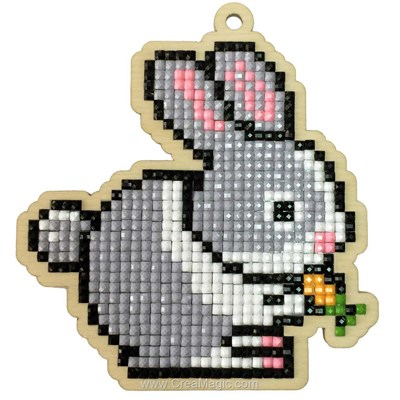 Broderie diamant rabbit - Wizardi