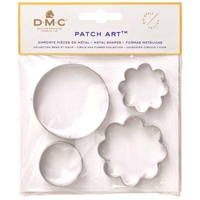 Emporte pièces rond et fleur pour le patch art - DMC