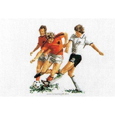Football sur lin broderie - Thea Gouverneur