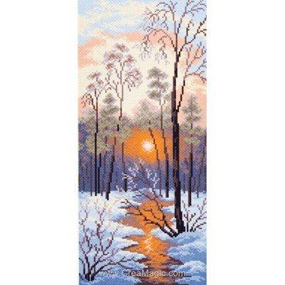 Broderie imprimée aida Collection d'art crépuscule d'hiver