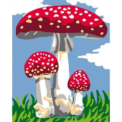 Kit canevas Luc Création pour enfants champignons