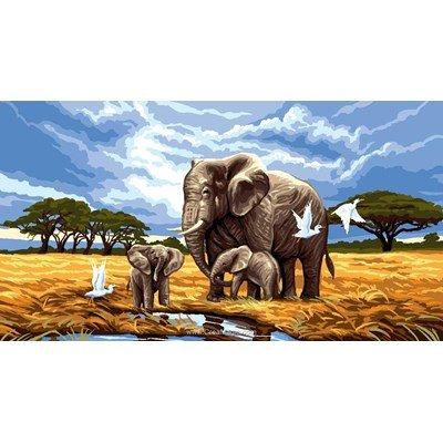 Rafael Angelot canevas vue d'un safari