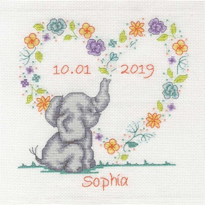 Broderies naissance DMC bébé éléphant - collection bébé