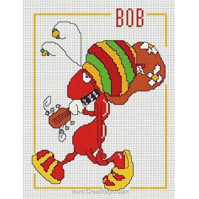 Broderie point de croix Anagram bob - toile lin
